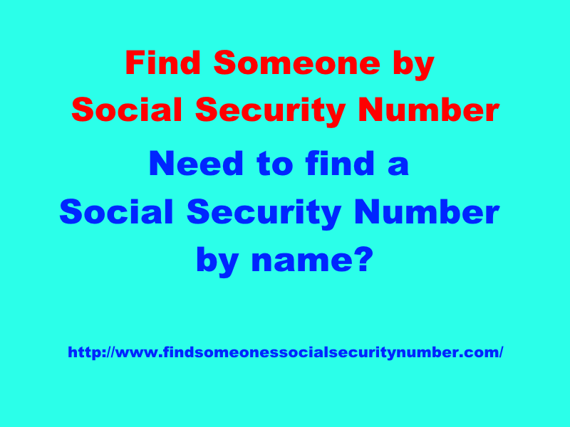 Two Simple Ways In Which You Can Do A Social Security Number Lookup For Free