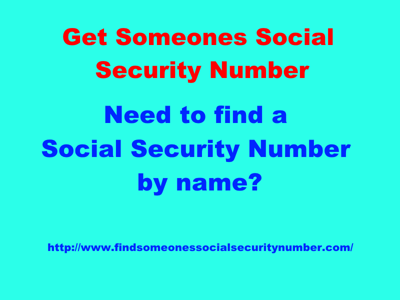 get someones social security number